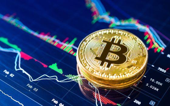 Photo free Bitcoin, charts, coin
