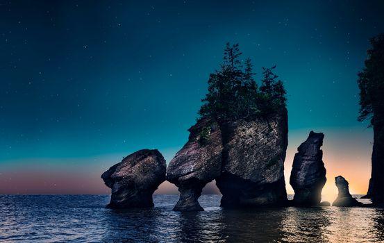 Фото бесплатно рассвет, скалы, небо