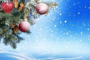 Нарядная елка и снег · бесплатное фото