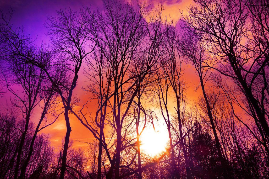 Красочное небо · бесплатная заставка
