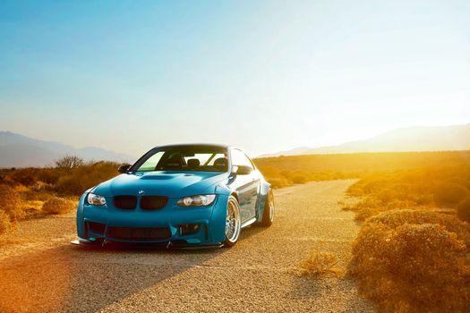 Фото бесплатно BMW, M3, синий