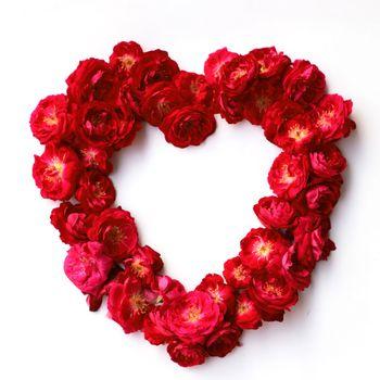 Бесплатные фото розы,красные,сердечко,цветы