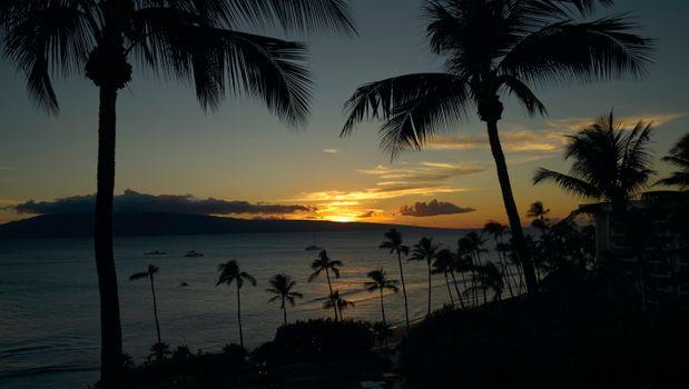 Фото бесплатно Мауи, закат солнца, Золотой час