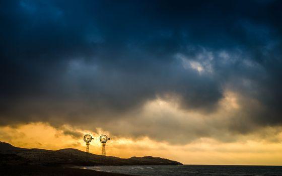 Фото бесплатно побережье, тучи, небо