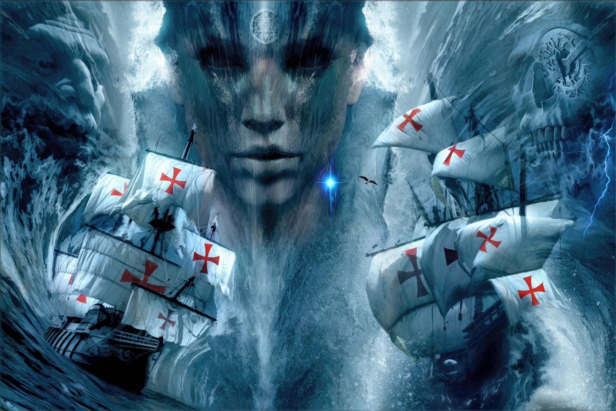 Обои Лусиадас, Море бури, фантастика