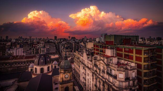 Photo free cities, argentina, evening
