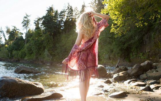 Бесплатные фото майя рае,купальник,блондинка,озеро,maya rae,swimsuit,blonde,lake