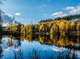 Фото бесплатно осень, водоём, озеро