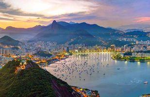Фото бесплатно Рио-де-Жанейро, море, вечер