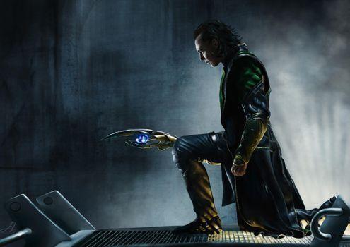 Заставки Локи, супергерои, склонил колено