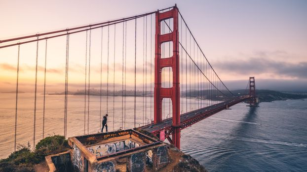 Фото бесплатно Мост Золотые Ворота, фотографии, город