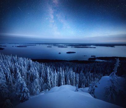Заставки национальный парк Коли, снег, зима