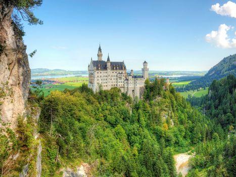 Photo free landscapes, summer, castle