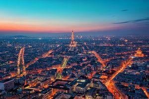 Заставки Париж, город, закат