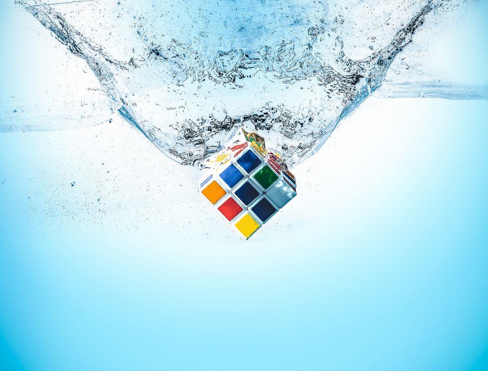 Фото рубик кубик вода всплеск воды - бесплатные картинки на Fonwall