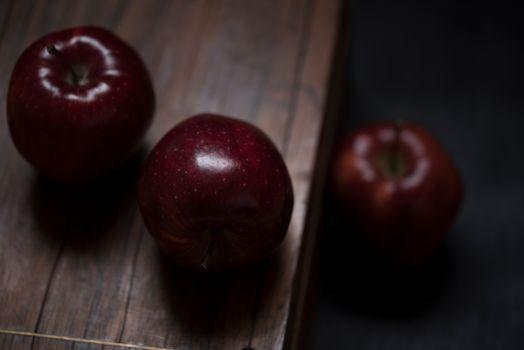Photo free apple, table, wood