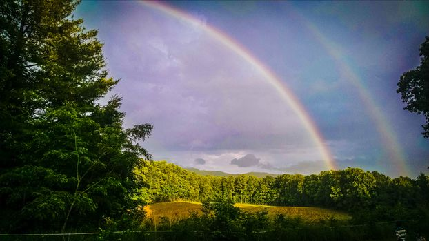 Фото бесплатно пейзаж, явление, радуга