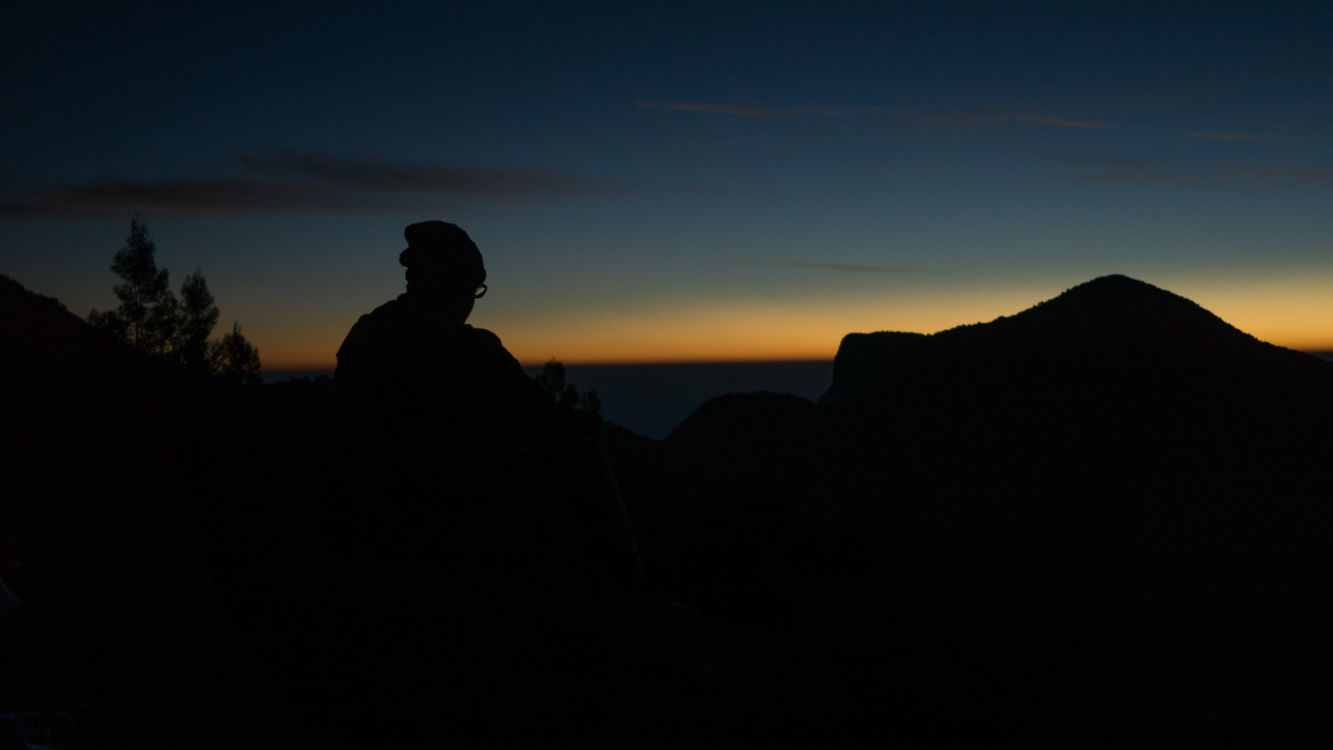 Фото бесплатно человек, силуэт, горизонт, man, silhouette, horizon - на рабочий стол