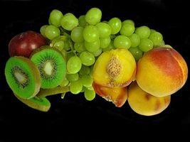 Бесплатные фото персики,виноград,киви,десерт,еда,фрукты