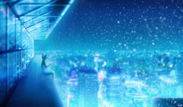 Фото бесплатно снег, пейзаж, художник