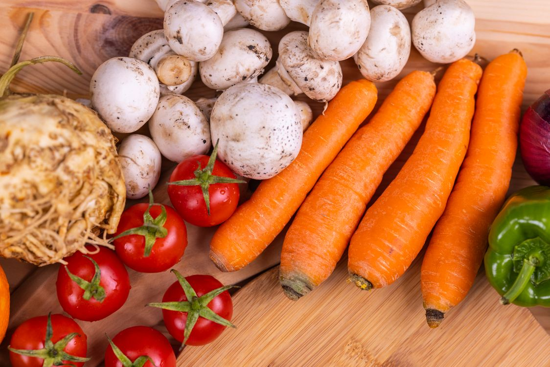 Фото еда морковь помидоры - бесплатные картинки на Fonwall