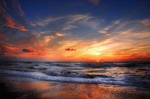 Фото бесплатно волны, пейзаж, закат
