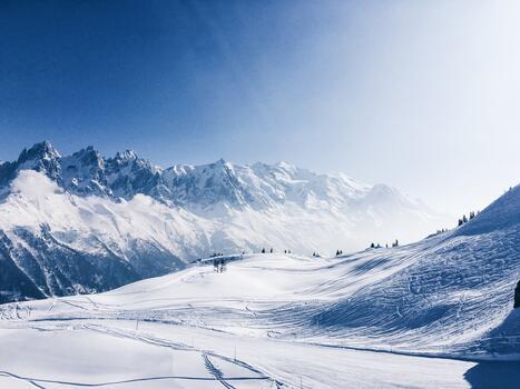 Фото бесплатно горный хребет, Альпы, зимний вид спорта