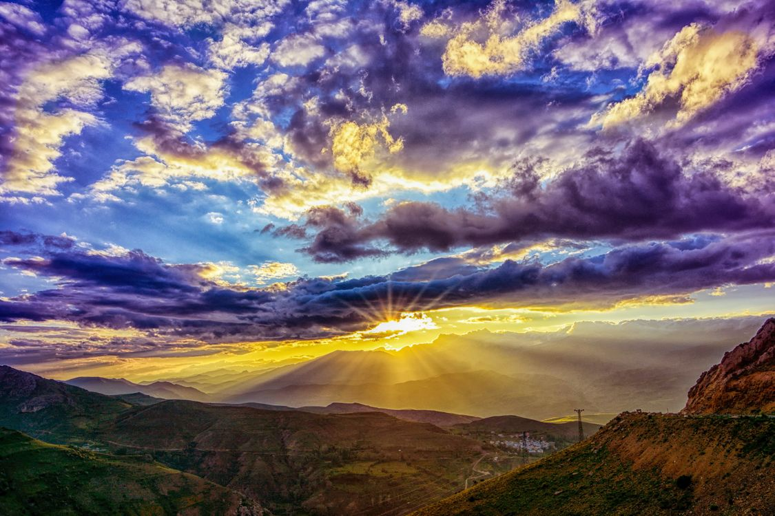 Фото облака небо облачное небо - бесплатные картинки на Fonwall