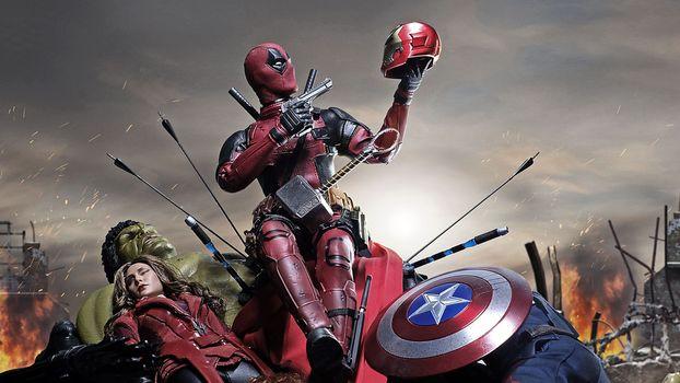 Фото бесплатно Deadpool, супергерои, произведение искусства