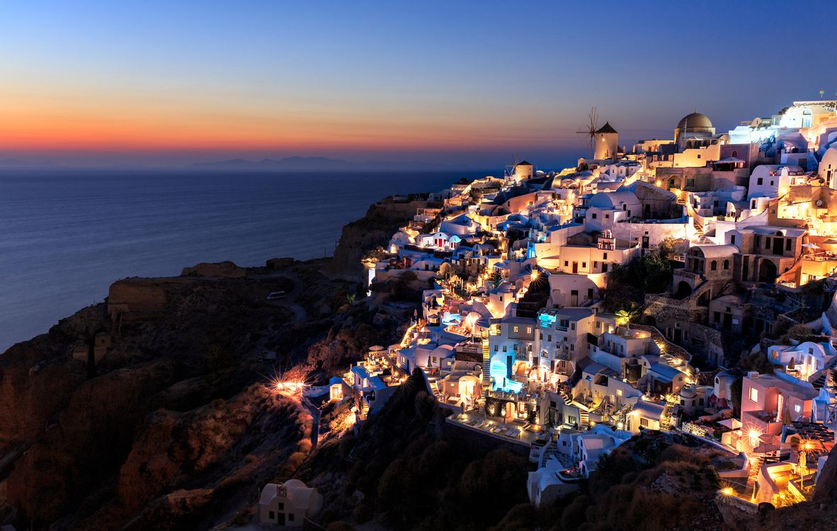 Фото бесплатно Греция, остров, Санторин, Санторини, город