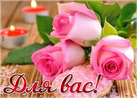 Открытка бесплатно картинка с цветами для вас, розы, надпись