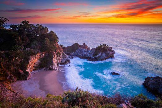 Фото бесплатно водопад, водопад Маквей, Калифорния