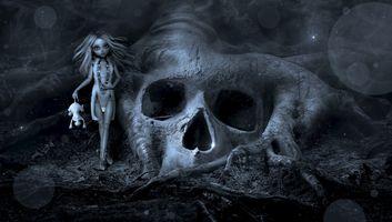 Бесплатные фото фантазия,жуткий,кукла,череп,корень,мистический,странно