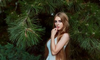 Photo free women, portrait, long hair