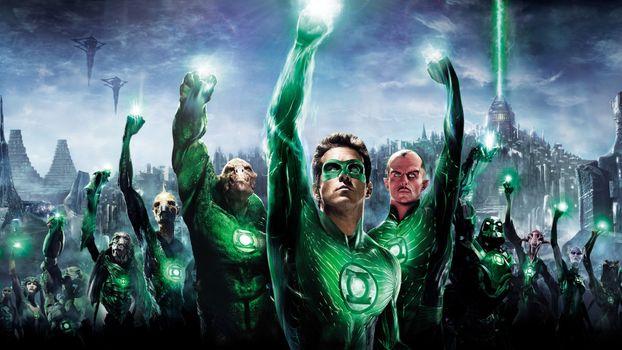 Заставки минимализм, художник, Green Lantern