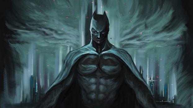 Фото бесплатно бэтмен, супергерои, цифровое искусство