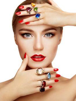 Photo free woman, manicure, make-up