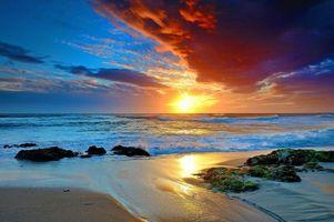 Бесплатные фото море,пляж,закат