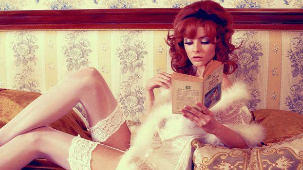 Photo free redhead, model, lingerie