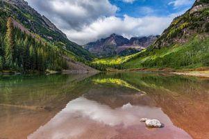 Бесплатные фото Марун Беллс,Колорадо,озеро,горы,лес,деревья,пейзаж