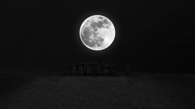 Заставки Луна, звезды, Стоунхендж