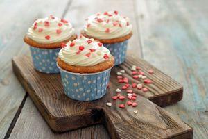 Фото бесплатно cupcake, dessert, sweet, love