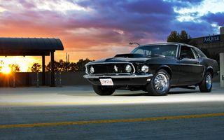 Фото бесплатно Форд Мустанг 1969, серый, вид спереди