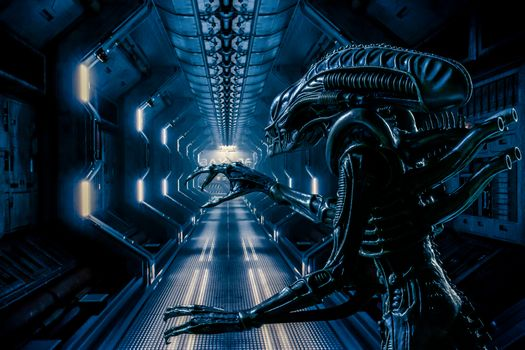 Photo free spaceship, corridor, monster