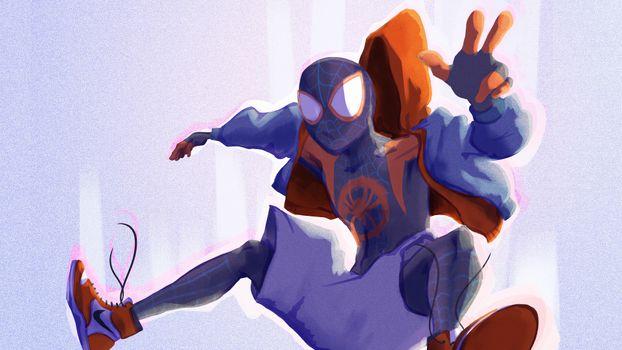Заставки паук, супергерои, произведение искусства