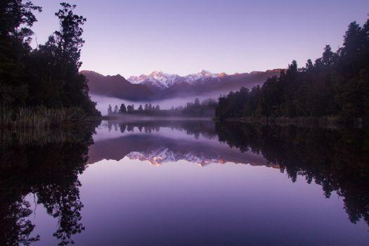 Фото бесплатно озеро, фиолетовый, пейзаж