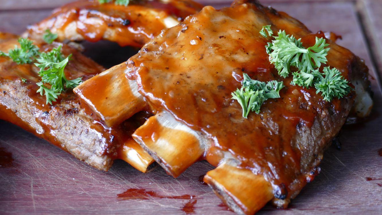 Фото бесплатно мясо, ребрышки, соус - на рабочий стол