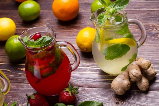 Заставки напиток, лимонад, кувшины