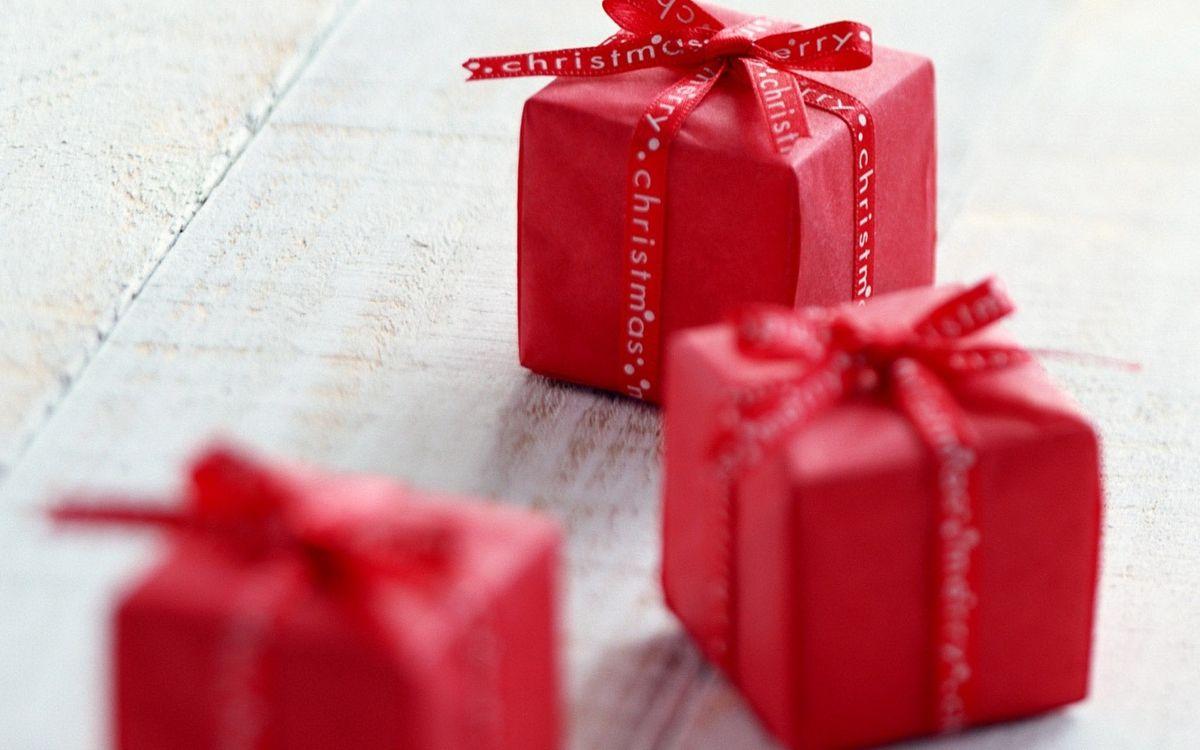 Фото бесплатно подарки, подарок, Новый год - на рабочий стол
