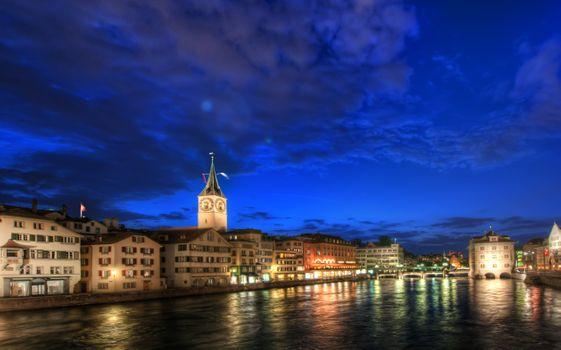 Photo free Zurich at Night, Switzerland, night